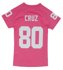 ... NFL Football Youth Girls New York Giants Victor Cruz   80 Player Jersey  - Pink ... bc3f664fc