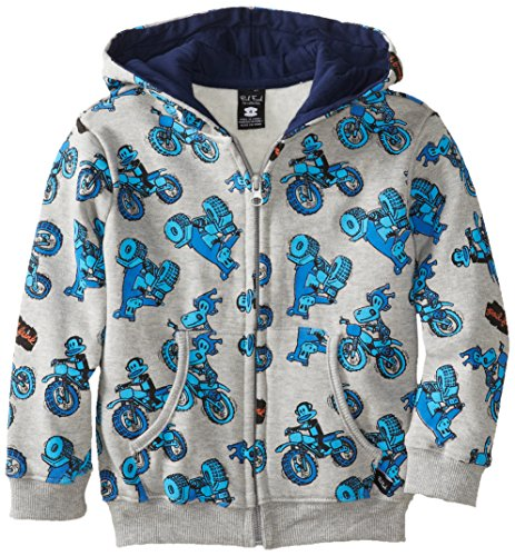 Paul Frank Little Boy's Kids Julius Motocross Hooded Zip Up Sweatshirt Hoodie