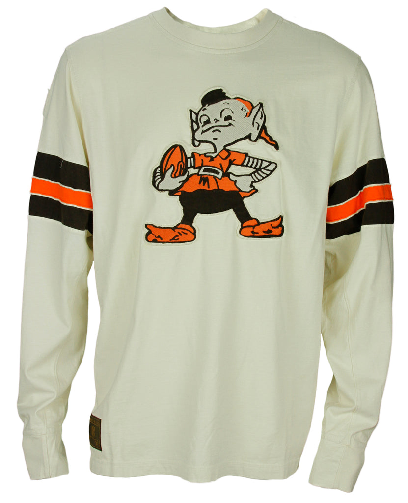 superior quality 6527a 1d298 Reebok NFL Football Men's Cleveland Browns Vintage Logo Shirt - Cream