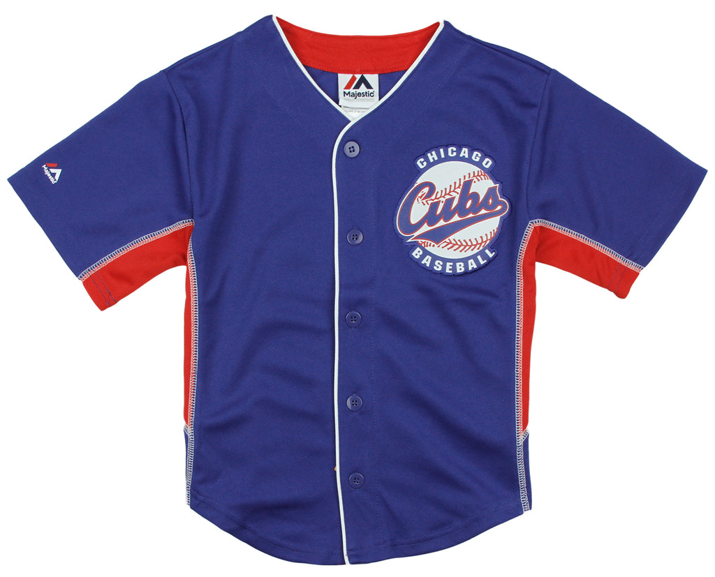 promo code b108c d0e03 Majestic MLB Baseball Toddlers Chicago Cubs Team Jersey - Blue / Red