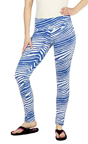 Zubaz NFL Women's Indianapolis Colts Team Color Tiger Print Leggings Pants