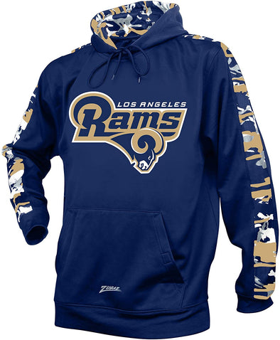 Zubaz NFL Men's Los Angeles Rams Pullover Hoodie with Camo Print