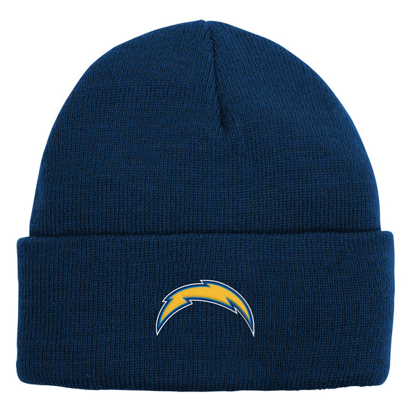 Outerstuff NFL Youth Boys Los Angeles Chargers My Team Cuffed Knit with Pom