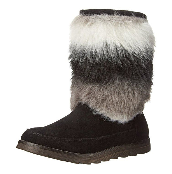 Rocket Dog Women's Marcus Wide Tale Hush Winter Faux Fur Boots - Black & Tan