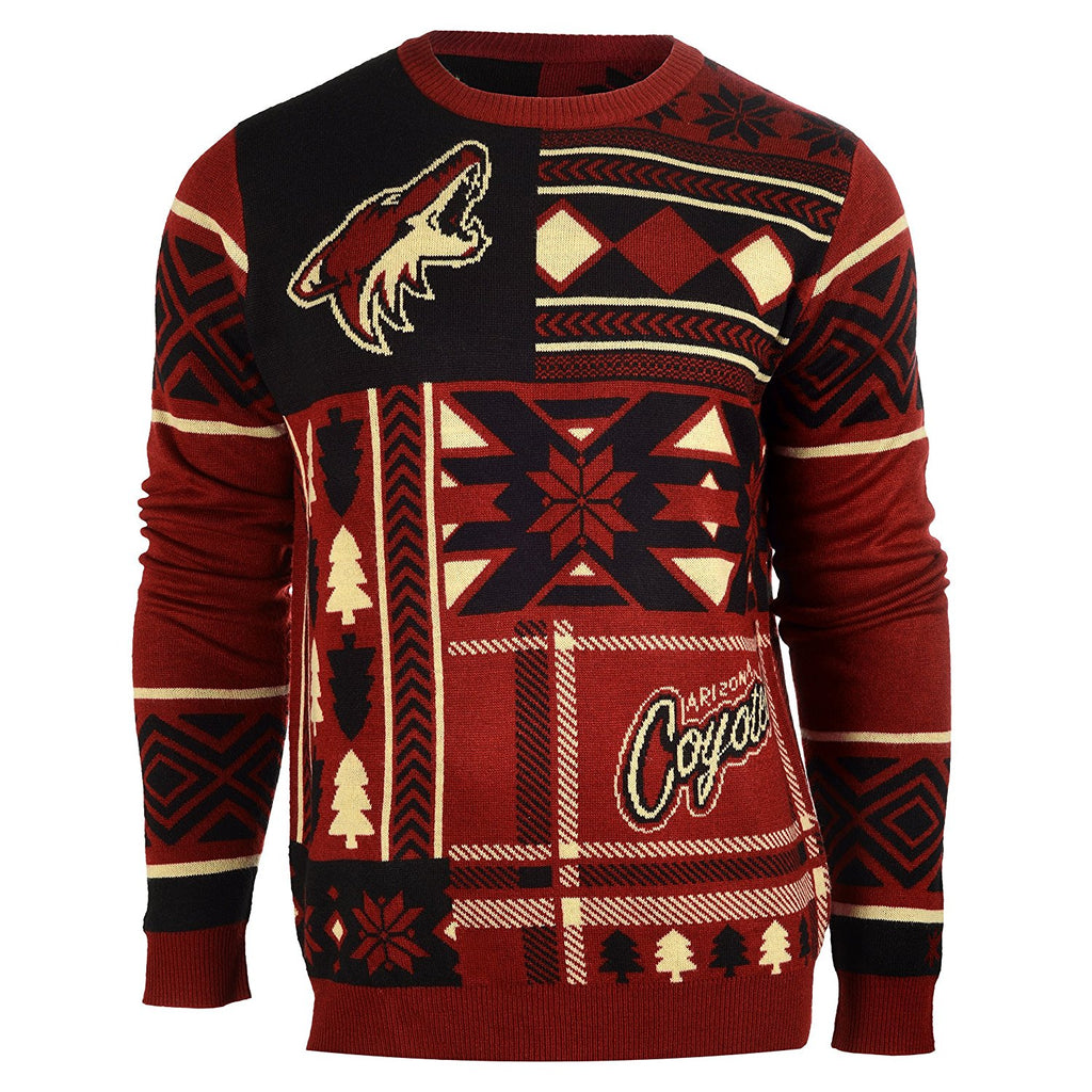 fb1bdd39 Forever Collectibles NHL Men's Arizona Coyotes Patches Ugly Sweater ...