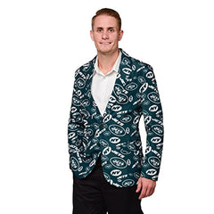 Forever Collectables NFL Men's New York Jets Ugly Business Jacket, Green