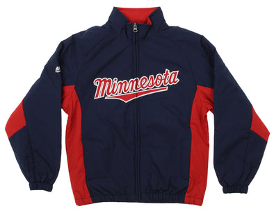 Majestic MLB Youth Minnesota Twins Double Climate Full Zip Jacket