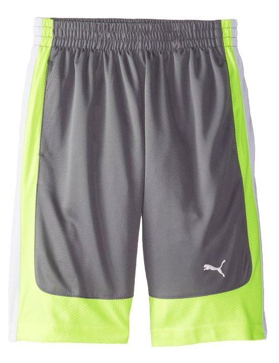 PUMA Kids Boys Curve Short - Gray and Blue
