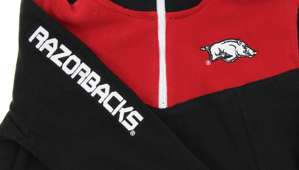 NCAA Youth Arkansas Razorbacks Break Point 1/4 Zip Pullover Sweater, Black