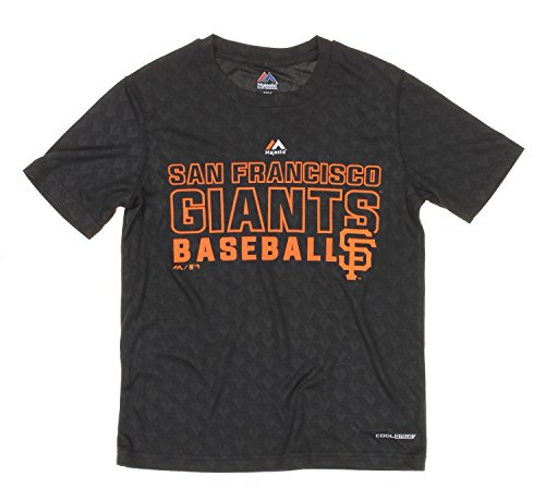 59e745a4c20 MLB Youth San Francisco Giants Geo Plex Sublimated Cool Base T-Shirt, Black