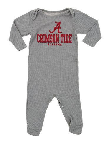 NCAA Infants Alabama Crimson Tide Big Fan Body Suit, Grey