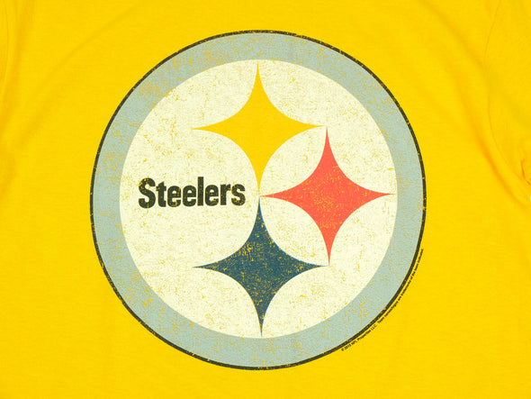 Pittsburgh Steelers NFL Football Men's Primary Logo T-Shirt Top Tee, Gold