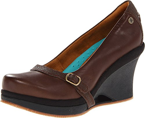 MOZO Women's Fresco Platform Wedge Buckle Shoe Heels, 2 Colors