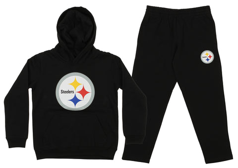 Outerstuff NFL Youth Pittsburgh Steelers Team Fleece Hoodie and Pant Set