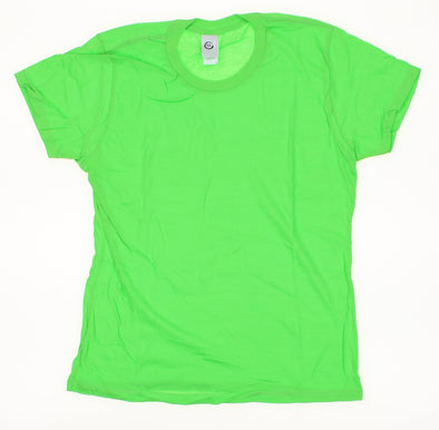 Active Apparel Women's Basic Short Sleeve Tee Shirt, Bright Green