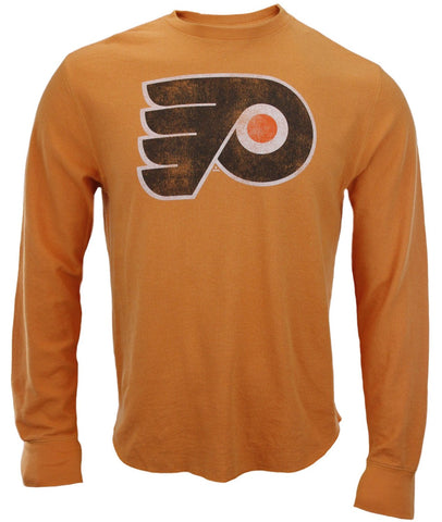 Reebok NHL Men's Philadelphia Flyers Long Sleeve Vintage Graphic Thermal Shirt, Orange
