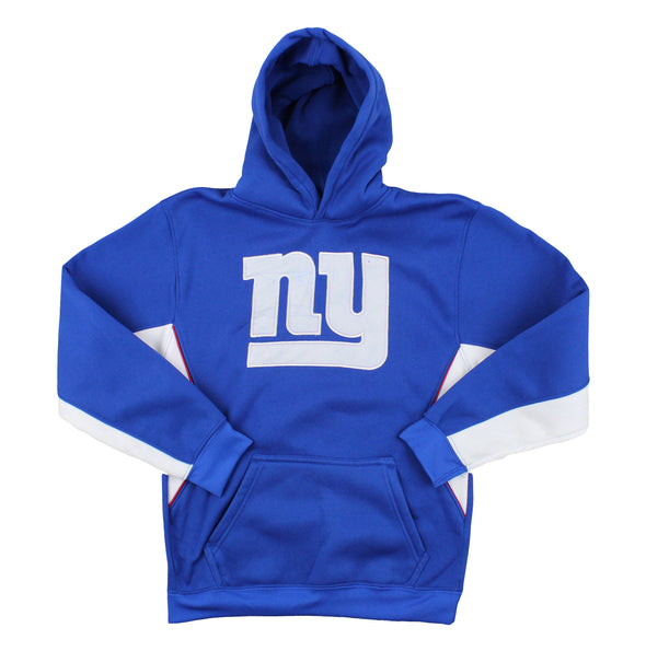 New York Giants NFL Youth Boys Synth Hoodie Sweatshirt - Blue - FLAWED