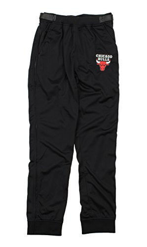 Zipway NBA Men's Chicago Bulls Tricot Jogger Tear-Away Pants, Black