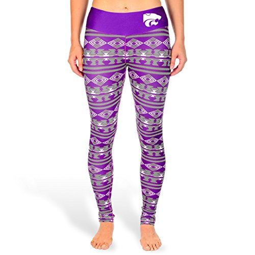 NCAA Women's Kansas State Wildcats Aztec Print Leggings, Purple
