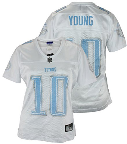 63cf4b75f Reebok NFL Women s Assorted Tennessee Titans Vince Young  10 Replica Jersey