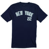 MLB Youth Boys New York Yankees Jacoby Ellsbury # 22 Player Shirt - Navy