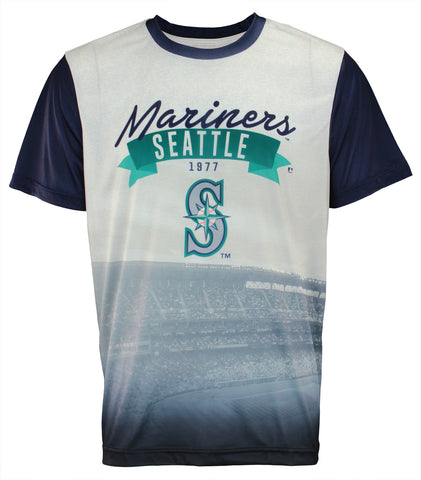 Forever Collectibles MLB Men's Seattle Mariners Outfield Photo Tee