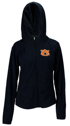 NCAA Women's College Auburn University Tigers Stadium Zip Up Hoodie, Navy