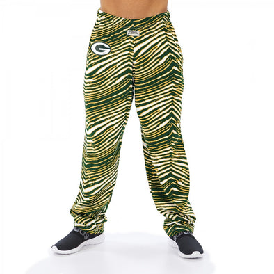 Zubaz NFL Men's Green Bay Packers Classic Zebra Print Team Pants