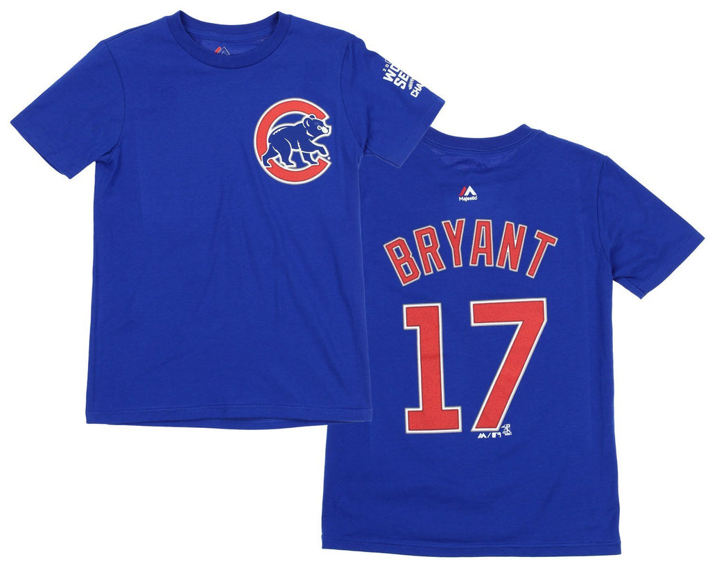 pretty nice 38f64 a6f9a Majestic MLB Youth Chicago Cubs Kris Bryant #17 Player T-Shirt