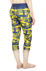 NCAA Women's Michigan Wolverines Geometric Print Capris, Navy