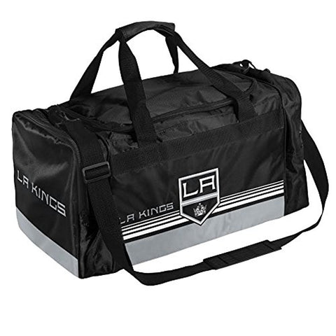 NHL Los Angeles Kings Striped Core Duffle Bag, Medium, Black