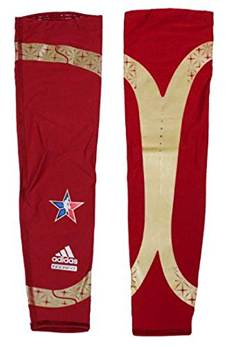 Adidas Assorted Techfit Powerweb GFX Arm Sleeve, Red/Gold