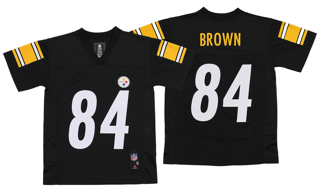 sale retailer 5f506 fe22c OuterStuff NFL Youth Pittsburgh Steelers Antonio Brown #84 Jersey, Black
