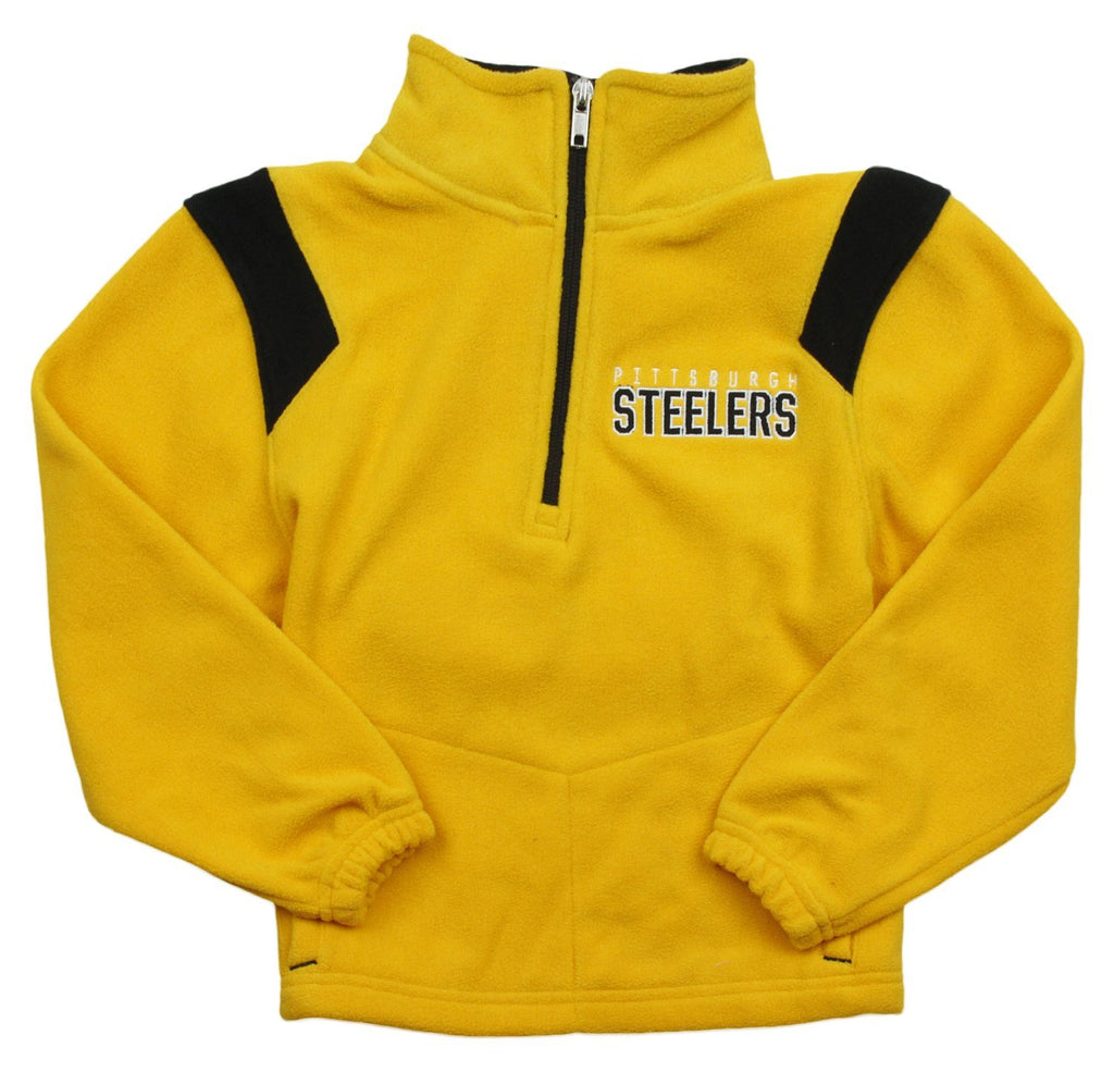 half off ad354 ec4d4 NFL Little Kids Boys Pittsburgh Steelers Pullover Micro Fleece Jacket  Sweater, Yellow