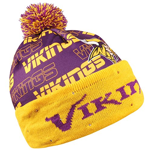 64feb9d41 Forever Collectibles NFL Adult s Minnesota Vikings Light Up Printed Beanie