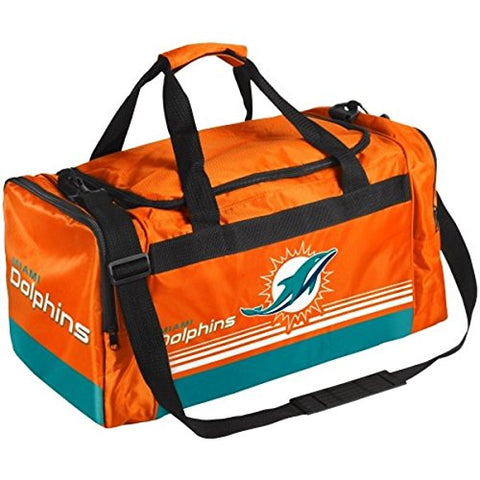 Miami Dolphins Medium Striped Core Duffle Bag