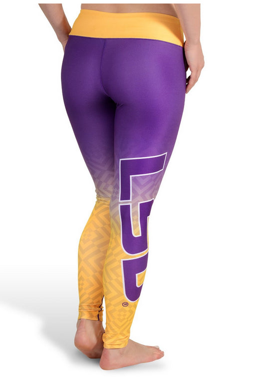 b03a8b6d4311e NCAA Women's LSU Tigers Gradient Print Leggings, Purple – Fanletic