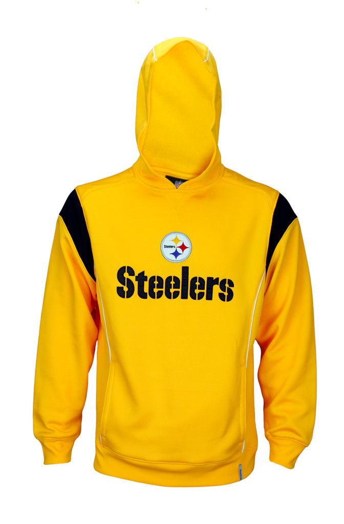 the latest a76ee 571de Reebok Mens NFL Football Pittsburgh Steelers Hoodie Hooded Sweatshirt,  Yellow