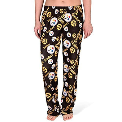 Forever Collectibles NFL Women's Pittsburgh Steelers Repeat Print Logo Comfy Pants