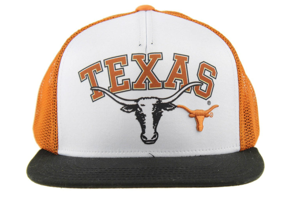 competitive price 81f59 c3611 NCAA Youth Texas Longhorns Adjustable Trucker Hat, White