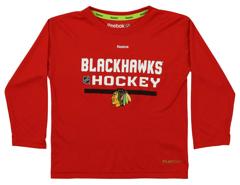 Reebok NHL Kids Chicago Blackhawks Long Sleeve Performance Tee a9531f7f8