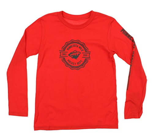Reebok NHL Youth Minnesota Wild Long Sleeve Icon Tee