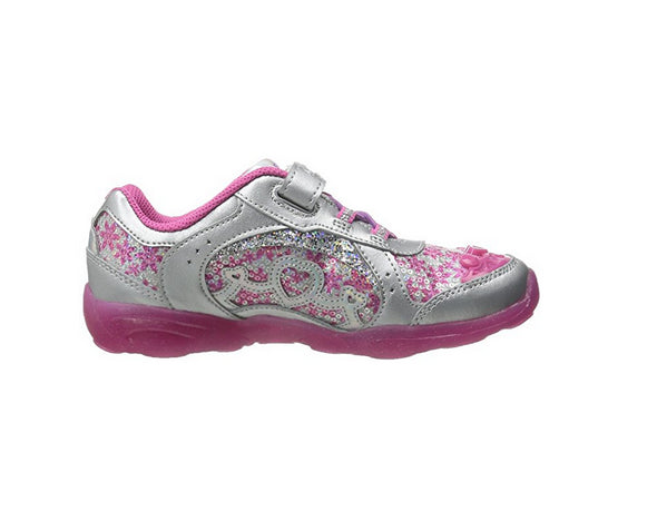 Stride Rite Toddler/Little Kid Disney Frozen Anna Light-Up Sneaker, Berry
