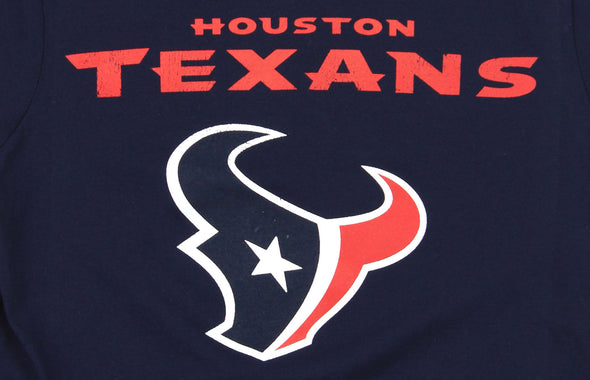 NFL Youth Houston Texans Distressed Graphics Throwback Tee T-Shirt, Navy