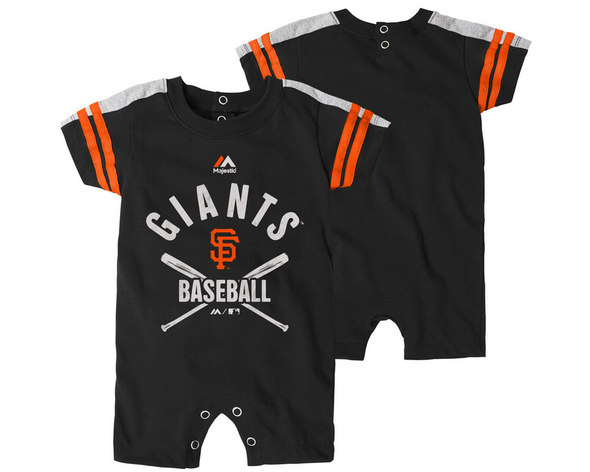 Outerstuff MLB Infants San Francisco Giants Classic Stripe Romper, Black