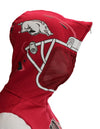 NCAA Youth Arkansas Razorbacks Full Zip Helmet Masked Hoodie, Red