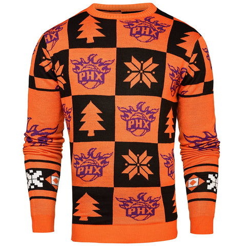 Forever Collectibles NBA Men's Phoenix Suns 2016 Patches Ugly Crew Neck Sweater