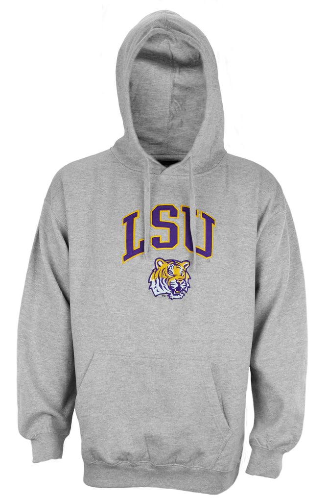 Genuine Stuff NCAA Men's Louisiana State University Tigers Hoodie - Grey