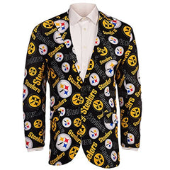 Forever Collectables NFL Men's Pittsburgh Steelers Ugly Business Jacket, Black