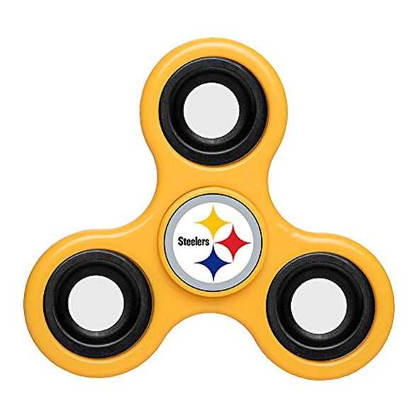 Forever Collectibles NFL Pittsburgh Steelers Diztracto Fidget Spinnerz - 3 Way
